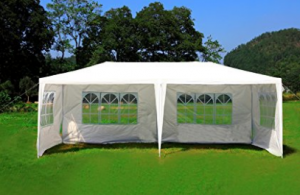 MCombo 10'x20' White Canopy Party Outdoor Gazebo Wedding Tent Removable Walls