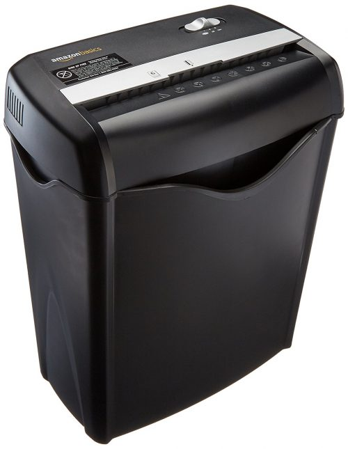 6-Sheet Cross-Cut Paper and Credit Card Shredder-Paper Shredders