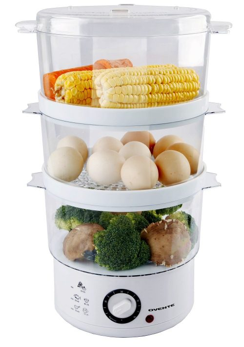 7.5-Quart 3-Tier Electric Vegetable and Food Steamer