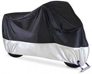 """Ohuhu Waterproof Motorcycle Cover, Fits up to 108"""" Motors"""