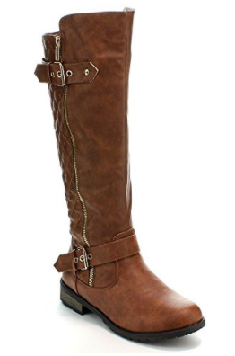 8. Forever Mango-21 Women's Winkle Back Shaft Side Zip Boots