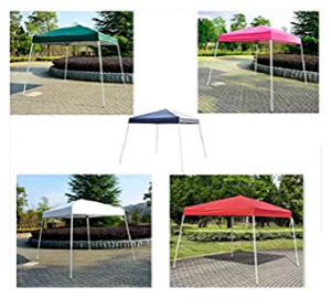 Wedding Canopy, 8' X 8'Outdoor Slant Leg Ez Pop Up Canopy Wedding Party Tent Folding Gazebo