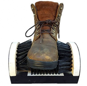 Shoe Boot Cleaning Brush - Floor Mount Scraper