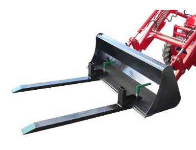 5. Heavy Duty Pallet Forks by Bucket Solutions