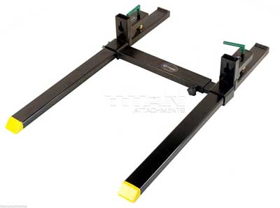 9. Titan Clamp on Heavy Duty Pallet Forks and adjustable Stabilizer Bar