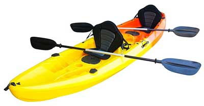 2. Nixie Sports Sit On Top Tandem Fishing Kayak With Backrests