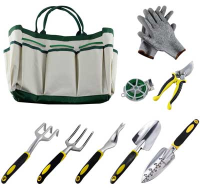 Ucharge 9Pcs Garden Tool Sets. Top 10 Best Garden Tools Sets Reviews and Buying Guide