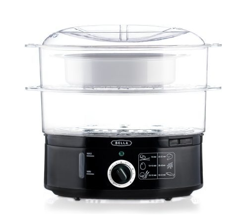 BELLA 7.4 Quart Healthy Food Steamer-Electric Food Steamers