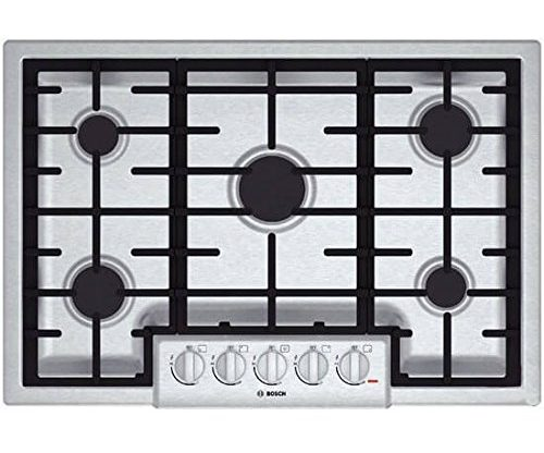 "Bosch NGM8055UC 800 30"" Stainless Steel Gas Sealed Burner Cooktop-Gas Cooktops"