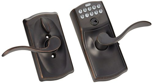 Camelot Keypad Accent Lever Door Lock