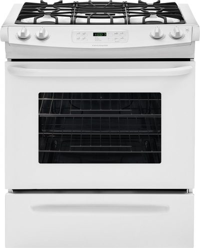 Compliant Slide-In Gas Range with Sealed Gas Burners Utility Drawer