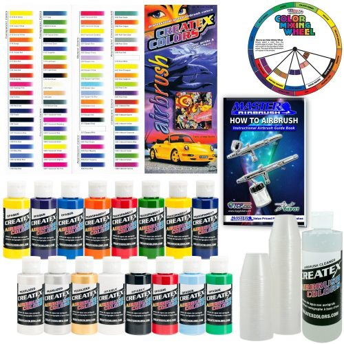 Createx 16 Color Airbrush Super Starter Kit
