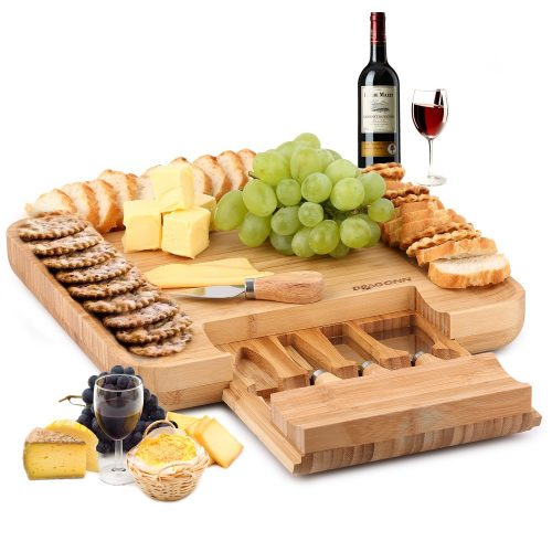 DRAGONN 100% Natural Bamboo Cheese Board