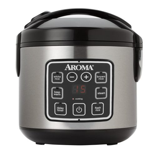 Digital Cool-Touch Rice Cooker and Food Steamer