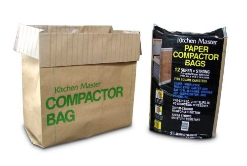 Kitchen Master Super Strong Compactor Bags Pre Cuffed-Trash Compactors