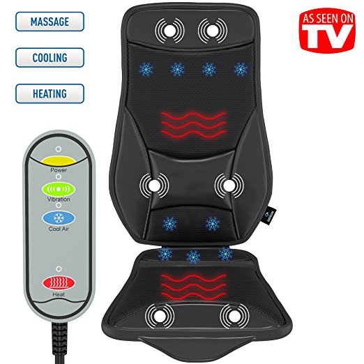 Luxury Cooling and Heating Ventilated Seat Cushion for Car and Home – with Vibrating Massage