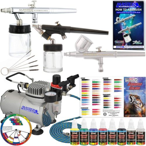 Master Airbrush KIT-SP19-20 Art Airbrushing System Paint Kit-Airbrushes Kit