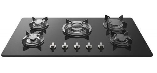 Tempered Glass Built-in 5 Italy Sabaf Burners Stove Top Gas Cooktop