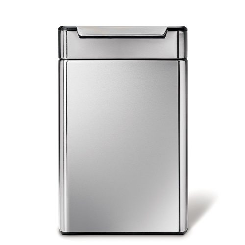simplehuman Rectangular Touch-Bar Recycling Trash Can