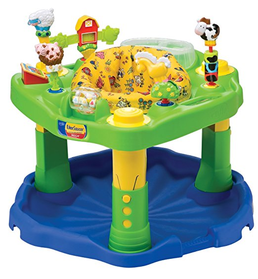 1.Evenflo Farmyard Mega ExerSaucer Variety of interchangeable toys