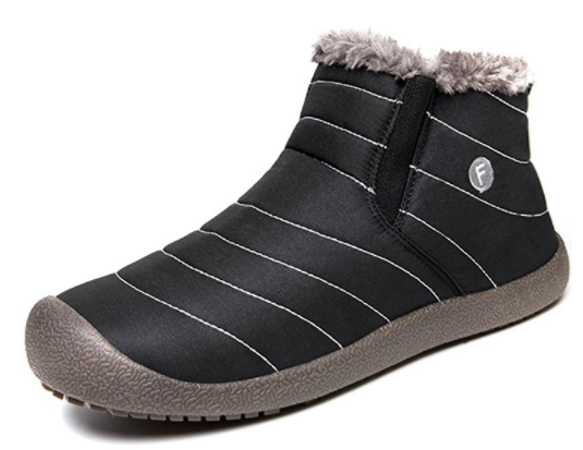 1. JACKSHIBO men's women's fur lined snow boots