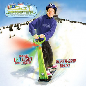 GeoSpace Original LED Ski Skooter: Fold-up Snowboard Kick