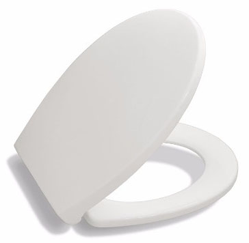 Bath Royale Premium White Toilet Seat, Elongated
