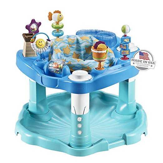 3. Evenflo Exersaucer Activity Saucer, Beach Baby