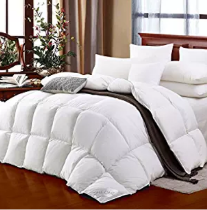 SHEONE All Seasons Lightweight White Goose Down Comforter