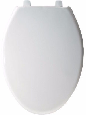 Bemis 7800TDG000 White Plastic Toilet Seat, Elongated
