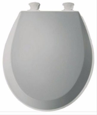 Bemis 500EC062 Molded Wood Toilet Seat, Round