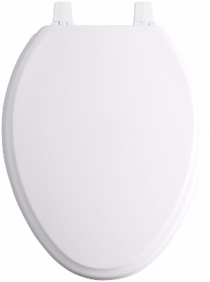 KOHLER K-4694-0 Ridgewood Molded-Wood Toilet Seat, Elongated