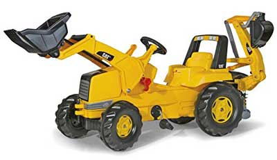 8. Rolly Toys CAT Construction Pedal Tractor: Backhoe Loader (Front Loader and Excavator/Digger), Kid Ages 3+