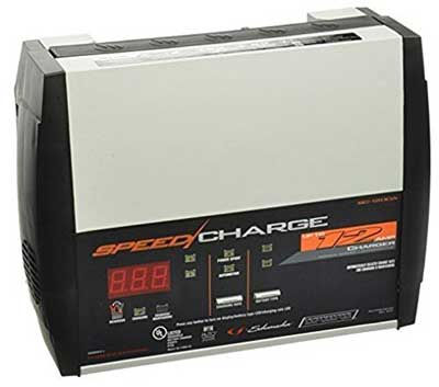 9. SchumacherSC-1200A-CA Speed Charge 12Amp 6/12V Fully Automatic Battery Charger