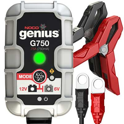 5. NOCO Genius G750 6V/12V .75A Ultra Safe Smart Battery Charger