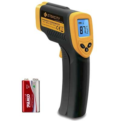 10.EtekcityLasergrip 774 Non-contact Digital Laser Infrared Thermometer Temperature Gun -58℉~ 716℉ (-50℃ ~ 380℃), Yellow and Black