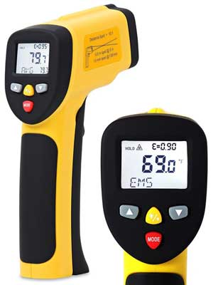 Best Lab Digital Thermometer - Temperature Gun ennoLogic Dual Laser Non-Contact Infrared Thermometer