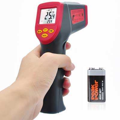 4.Valuetom Laser Infrared Thermometer Temperature Gun Accurate Non-Contact Thermometer for Car, Cooking, Baby,-32°C-530°C (-26°F-986°F)