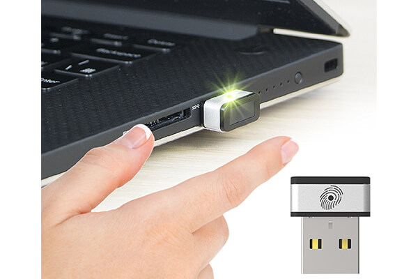 Mini USB Fingerprint Reader for Windows 7,8 & 10 Hello, PQI My Lockey 360°
