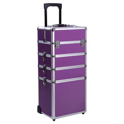 2. Ollieroo Rolling Cosmetic Makeup Case