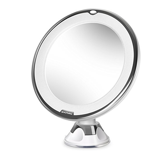 Beautural 10X Magnifying Lighted Vanity Makeup Mirror