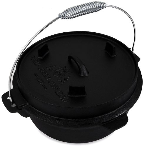 Cast Iron 8 Lt Dutch Oven for Outdoor Fireplace