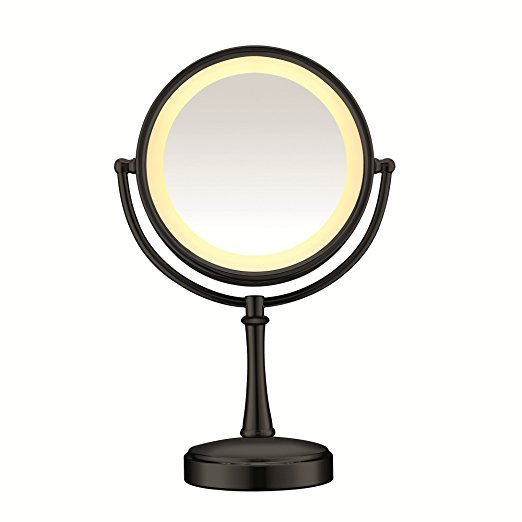 Conair Round Shaped 3-Way Touch Control Double-Sided Lighted Makeup Mirror