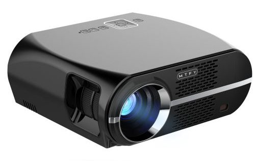 GP100 Video Projector,3500 Lumens LCD 1080P Full-HD LED Portable Multimedia Home Theater Projectors