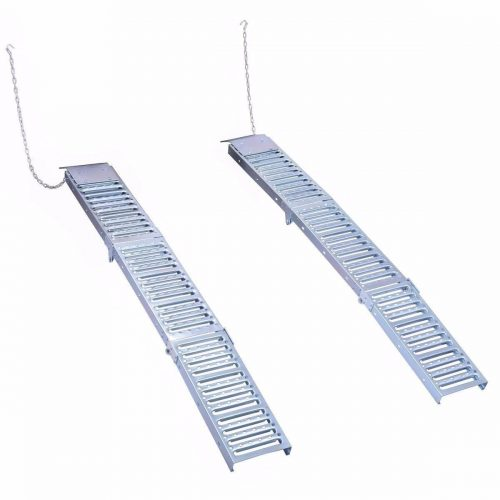 "Goplus Set Of Two 9""x 72"" Steel Folding Loading Ramps"