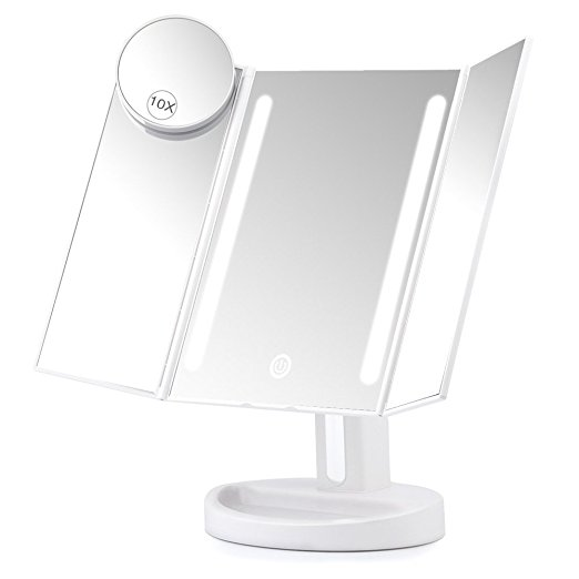 Herwiss Lighted Vanity Makeup Mirror
