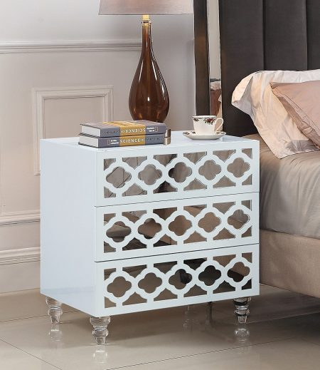 Iconic Home Bergamo Nightstand Side Table