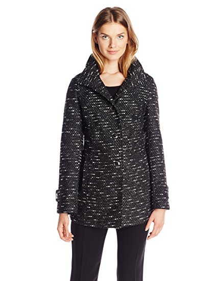 Kenneth Cole Women's Tweed Wool-Blend Coat