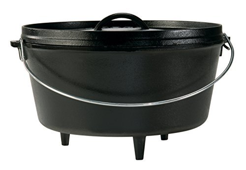 Lodge Seasoned Cast Iron Deep Camp Dutch Oven