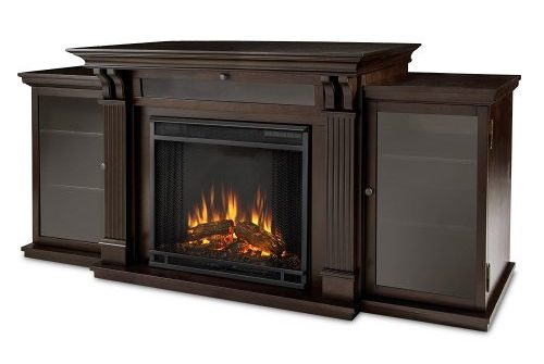 Real Flame 7720E Calie Entertainment Unit with Electric Fireplace-TV Consoles with Fireplace